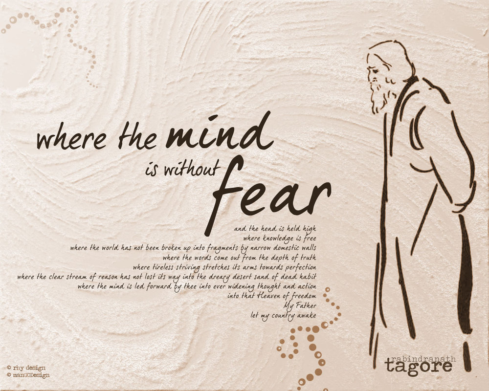Where mind is without fear – Rabindranath Tagore Poem